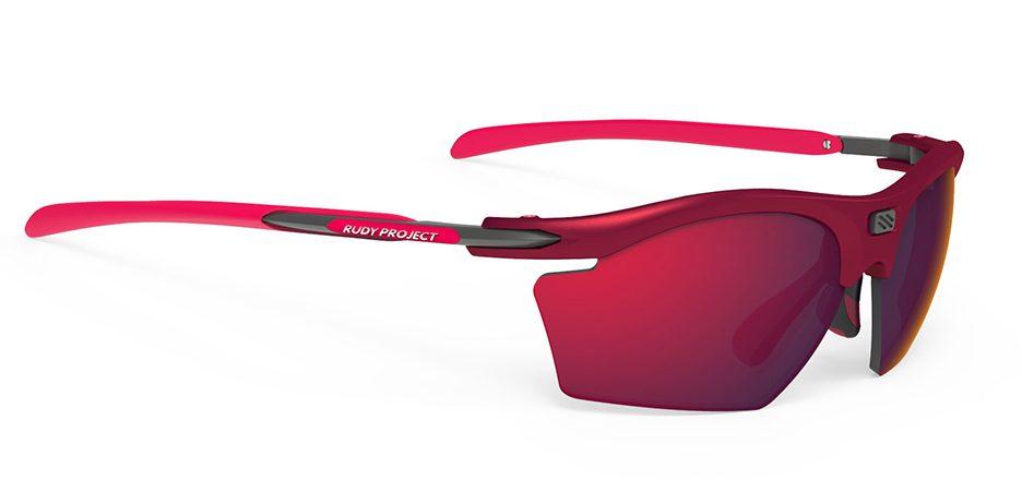SP543812 משקפי שמש דגם RYDON SLIM של רודי פרוג'קט, צבעאדום-מרלו