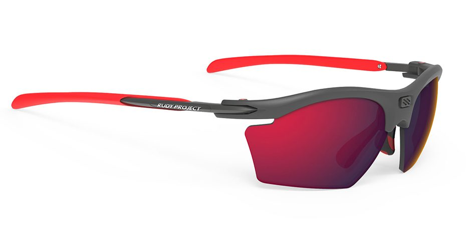 SP543898 משקפי שמש דגם RYDON SLIM של רודי פרוג'קט, צבעגרפיט-אדום
