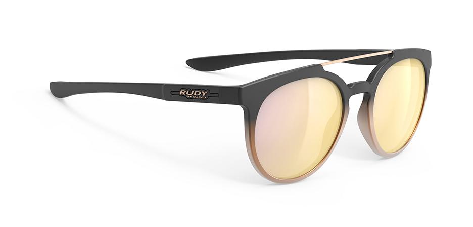 SP405706-0010 משקפי שמש דגם ASTROLOOP של רודי פרוג'קט, צבע שחור-זהב